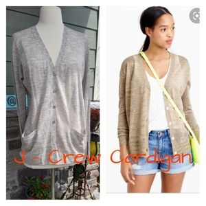J-CREW space dyed V neck cardigan